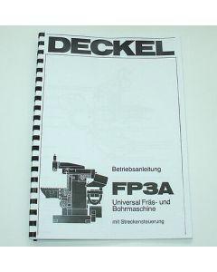 Betriebsanleitung FP3A 2206 CNC 2102 für Deckel Fräsmaschine