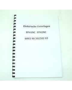 Elektrische Unterlagen FP42NC Dialog4 bis Bj.85 für Deckel Fräsmaschine