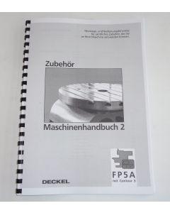 Maschinenhandbuch 2 Deckel FP5NC 2806 Steuerung Contour 3