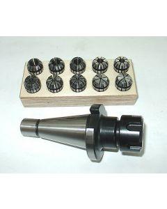 Spannzangenfutter SK30 DIN 2080 mit ER16 Spannzangensatz Rl. max 8µm