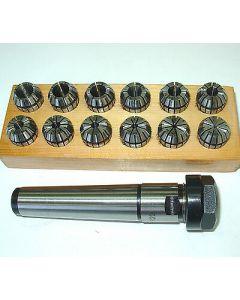Spannzangenfutter MK3 M12 ER20 mit Spannzangensatz Rl. max 8µm