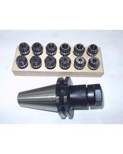 Spannzangenfutter SK40 DIN69871 ER20 Satz Rl. max 8µm z.B.f. Deckel Fräsmaschine