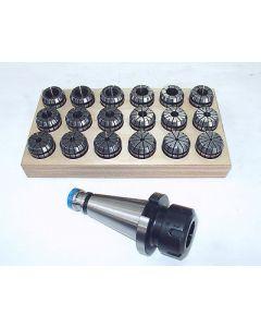 Spannzangenfutter SK40 DIN2080 ER32 Satz Rl. max 8µm z.B. f. Deckel Fräsmaschine