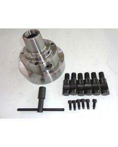 Spannzangenfutterflansch mit Camlock 5 für 5C 385E Spannzangen D140mm