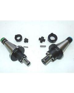 2 Kombiaufsteckdorne SK40 DIN2080 D16,22 z.B. für Deckel Fräsmaschine