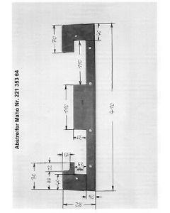 Y - Abstreifer 22135364 für Maho MH600